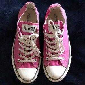Pink unisex converse all stars